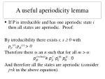 a useful aperiodicity lemma