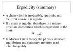 ergodicity summary