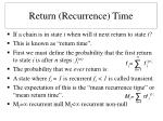return recurrence time