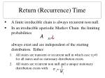 return recurrence time11