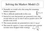 solving the markov model 2