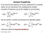 inverse transforms
