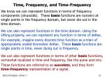 time frequency and time frequency