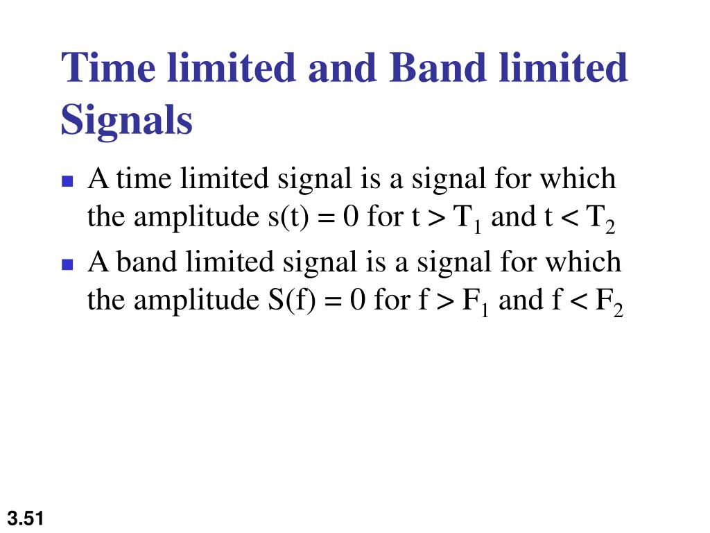 Time limited and Band limited Signals