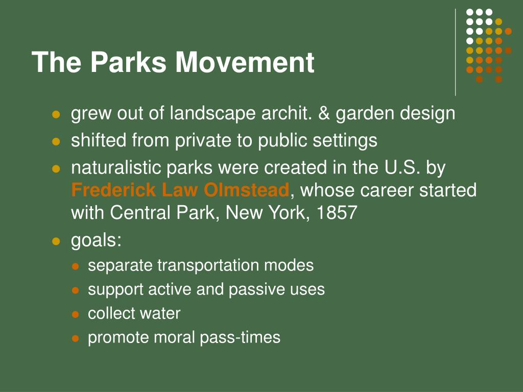 The Parks Movement