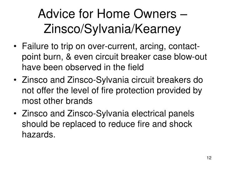 Advice for Home Owners – Zinsco/Sylvania/Kearney