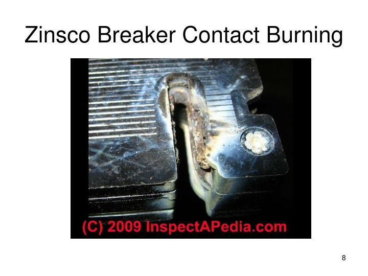 Zinsco Breaker Contact Burning
