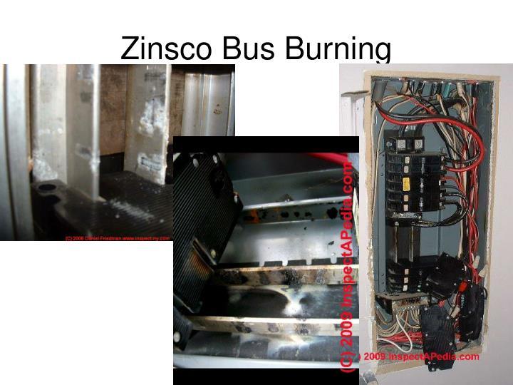 Zinsco Bus Burning