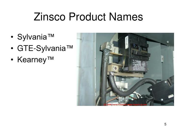 Zinsco Product Names