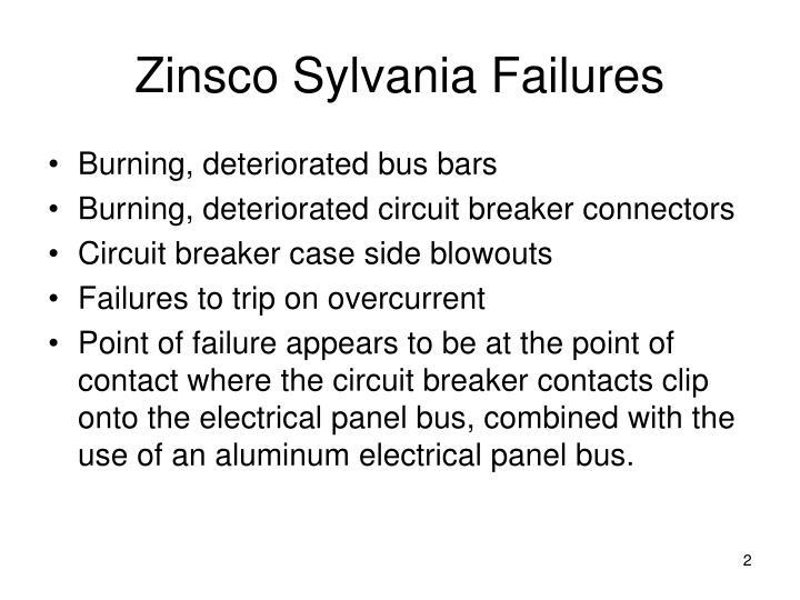 Zinsco sylvania failures