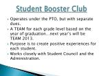 student booster club