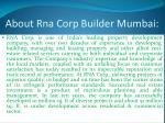 about rna corp builder mumbai