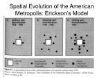 spatial evolution of the american metropolis erickson s model