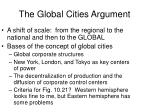 the global cities argument