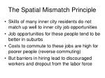 the spatial mismatch principle