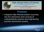 nsf high altitude balloon workshops