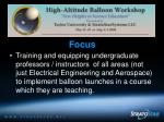 nsf high altitude balloon workshops40