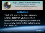 nsf high altitude balloon workshops44