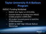 taylor university h a balloon program11