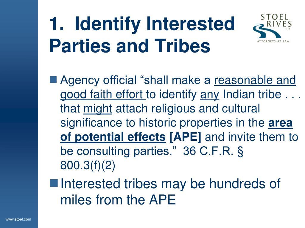 1.  Identify Interested