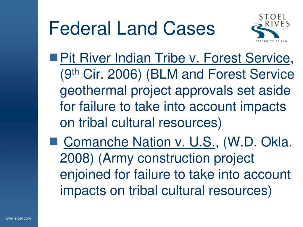 Federal Land Cases