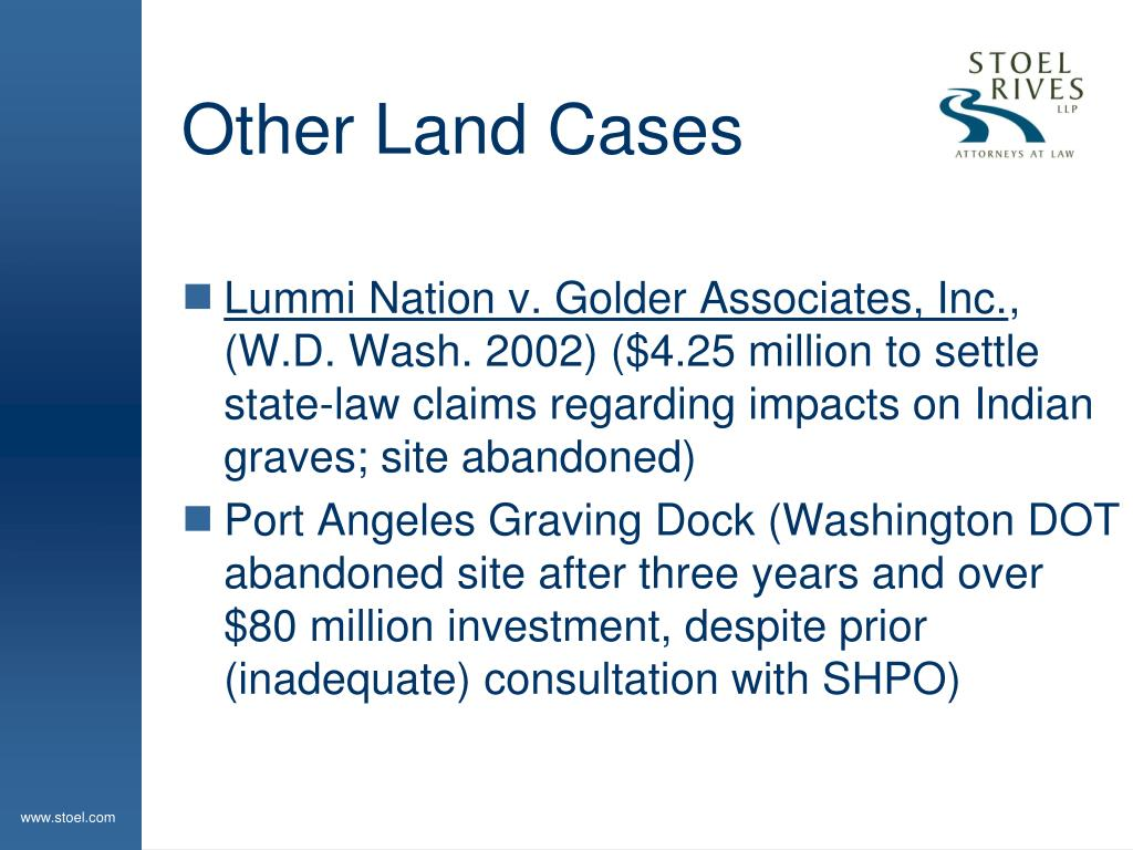 Other Land Cases