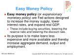 easy money policy
