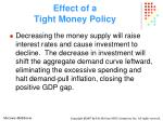 effect of a tight money policy28