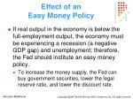 effect of an easy money policy
