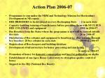 action plan 2006 07