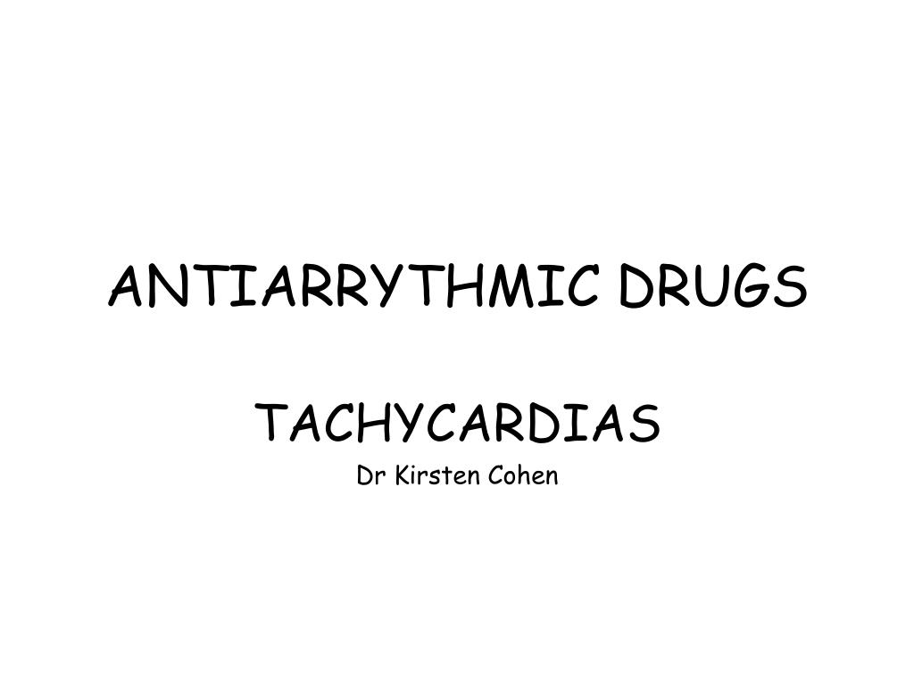 antiarrythmic drugs l.