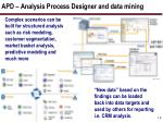 apd analysis process designer and data mining14