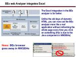 bex web analyzer integrates excel