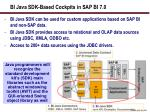 bi java sdk based cockpits in sap bi 7 0