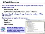 bi web api commands