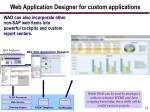 web application designer for custom applications