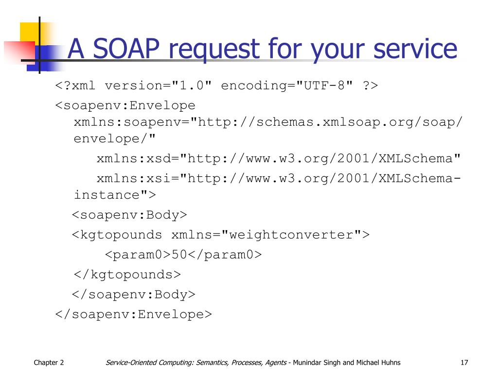 A SOAP request for your service
