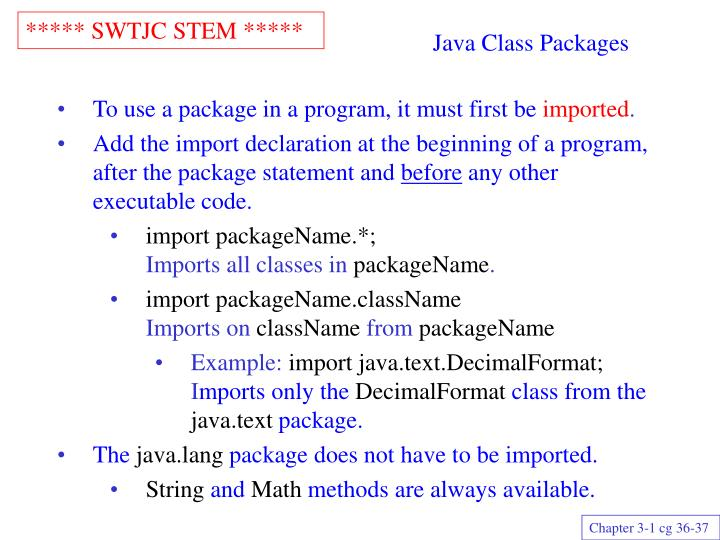 Java class packages