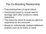 the co branding relationship