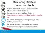 monitoring database connection pools