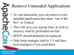 remove unneeded applications