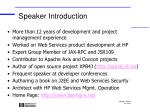 speaker introduction