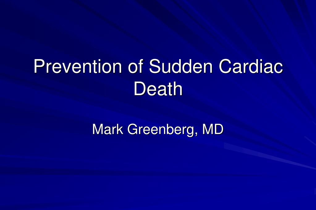prevention of sudden cardiac death l.