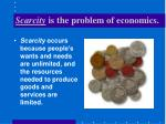 scarcity is the problem of economics