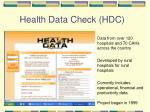 health data check hdc
