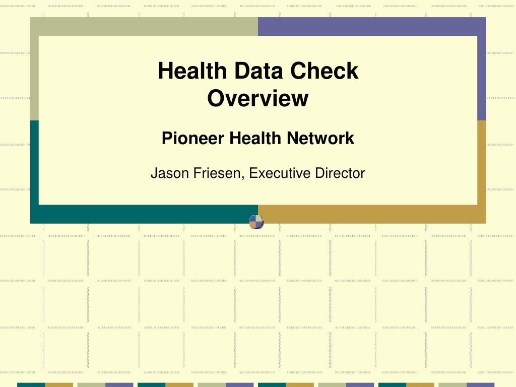 health data check overview l.