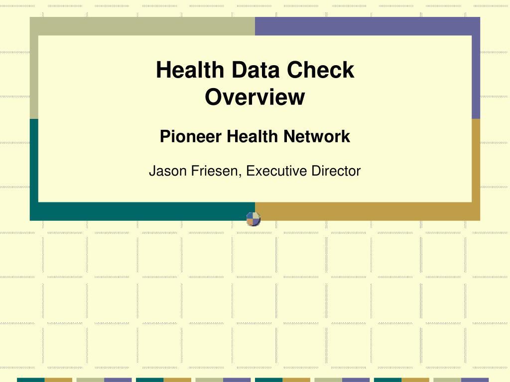 health data check overview l.