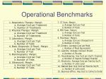 operational benchmarks