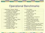 operational benchmarks