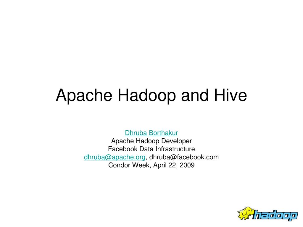 apache hadoop and hive l.
